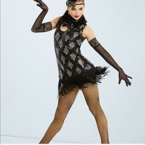 Weissman Ain't Misbehavin Black Gold Flapper Dress